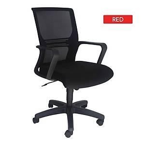 Artrich Art-933MB Mesh Medium Back Chair Red