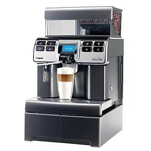 SAECO AULIKA TOP RI HSC V2 FULLY AUTOMATIC COFFEE MACHINE SILVER BLACK