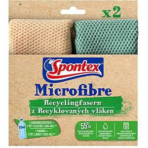 Spontex utierky z mikrovlákna z recyklovaného materiálu, 2 ks v balení