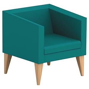 SOKOA ARMCHAIR 1PL WOOD/GREEN