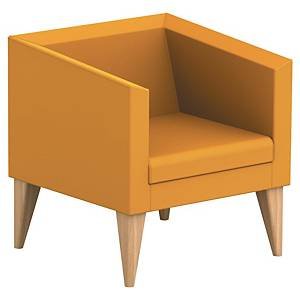 SOKOA ARMCHAIR 1PL WOOD/YELLOW