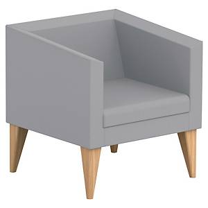 SOKOA ARMCHAIR 1PL WOOD/GREY