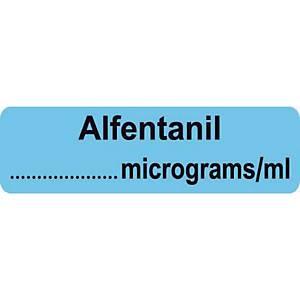 Syringe Label - Alfentanil