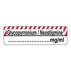 Syringe Label - Glycopyrronium/Neostigmine