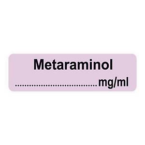Syringe Label - Metaraminol