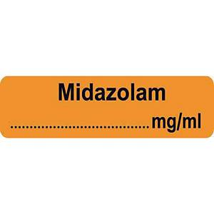 Syringe Label - Midazolam