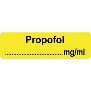 Syringe Label - Propofol