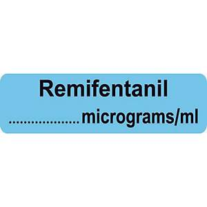 Syringe Label - Remifentanil micrograms/ml