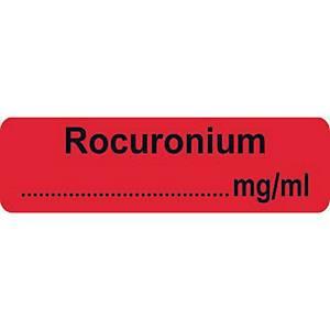 Syringe Label - Rocuronium Label