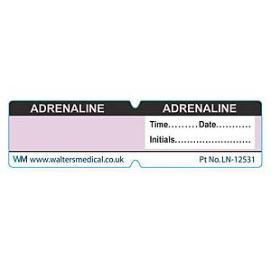 Line Label - ADRENALINE Lilac Reversed Out