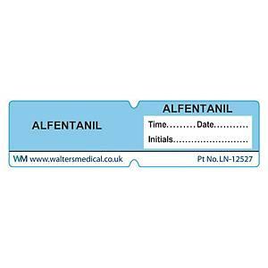 Line Label - ALFENTANIL Blue