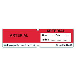 Line Label - ARTERIAL Red