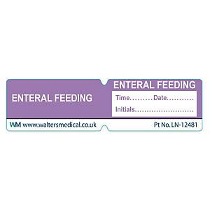 Line Label - ENTERAL FEEDING Purple