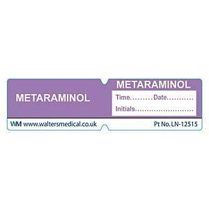 Line Label - METARAMINOL Lilac