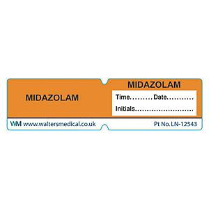 Line Label - MIDAZOLAM Orange