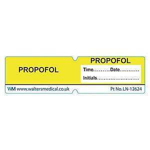 Line Label - PROPOFOL Yellow