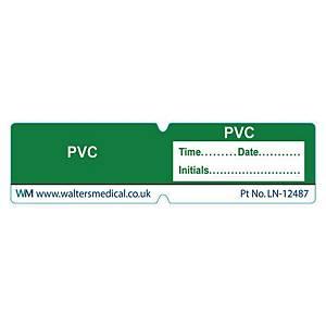 Line Label - PVC Green