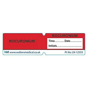 Line Label - ROCURONIUM Red