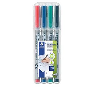 Staedtler Lumocolor OHPen316F niet-permanente marker, assorti kleur, per 4 stuks