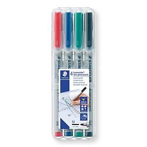 Staedtler Lumocolor OHPen315M niet-permanente marker, assorti kleur, per 4 stuks