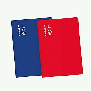 /**Pack de 10 libretas grapada dura Escolofi - A4 - 50 hojas - horizontal - rojo