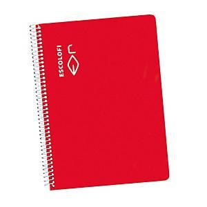 /**Pack de 5 cuadernos espiral blanda Escolofi - 50 hojas - 4 x 4 - rojo