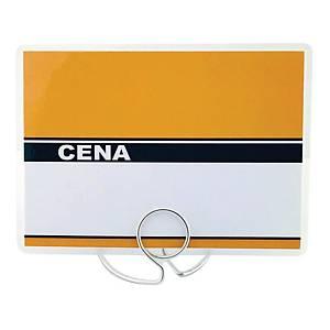 Etykieta cenowa - cenówka laminowana 80x110mm - pomarańczowa