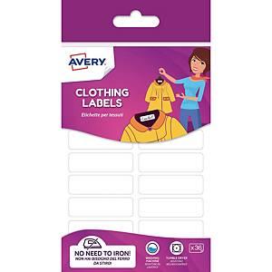 Pack de 36 etiquetas para ropa sin plancha Avery - 45X13 mm