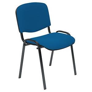 Chaise visiteur Entero - empilable - tissu - bleue