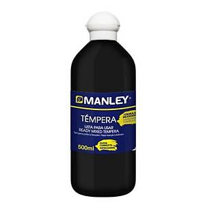 Témpera Manley- 500 ml - negro