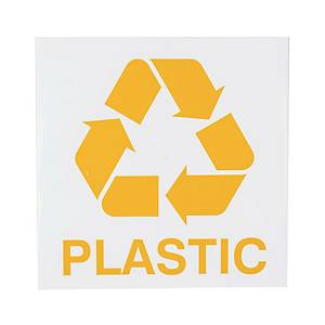 PLASTICS WASTE SIG 150X150MM ENGLISH VER