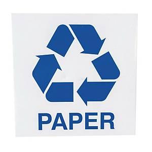 Znak informacyjny  Paper  150 x 150 (mm), angielski opis