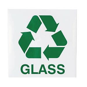 Znak informacyjny  Glass  150 x 150 (mm), angielski opis
