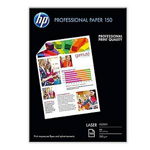 Paquete de 150 hojas HP Profesional laser A4 200 gr
