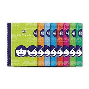 Pack de 10 cuadernos Lamela - 4º - 40 hojas -  4mm - colores surtidos