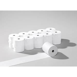 Rouleaux de papier thermique 57x55 mm x 40 m, 55 g/m2, blanc, sans phénol, 10 r.