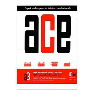 ACE A3 White Paper 80gsm - Ream of 500 Sheets