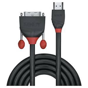 Câble HDMI vers DVI-D Lindy - noir - 2 m