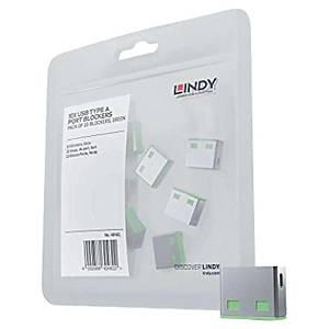 Bloqueur port USB Type A Lindy - vert - 10 pièces
