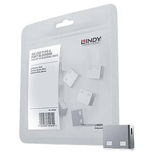Bloqueur port USB Type A Lindy - blanc - 10 pièces