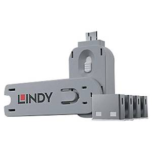 PK4 LINDY 40454 USB PORT BLOCK W/KEY WH