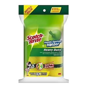 3M Scotch-Brite Sponge Refill - Pack of 4