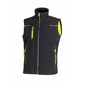 Gilet softshell U-Power Universe nero/giallo tg L