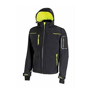 Giacca softshell U-Power Space nero/giallo tg 4XL