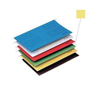 Bantex F4 Suspension File Yellow  - Pack of 25