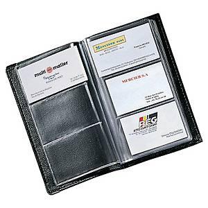 Visitenkartenbuch für 120 Karten, Maße: 11,7x19,7cm, schwarz