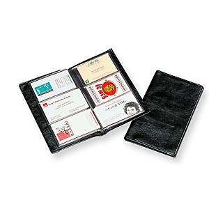 Business card folder for 120 cards black