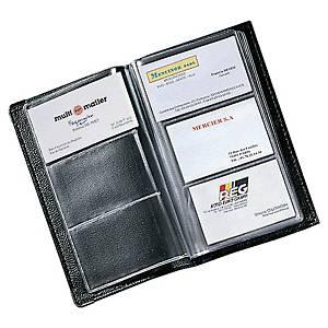 Business card folder for 120 cards black