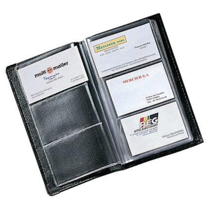 Visitenkartenbuch Für 120 Karten Maße 11 7x19 7cm Schwarz