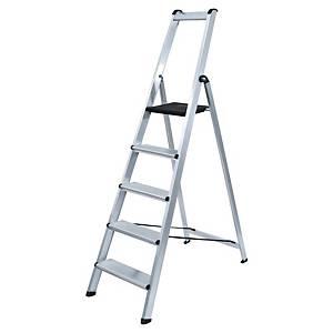 Aluminium ladder 5 treden